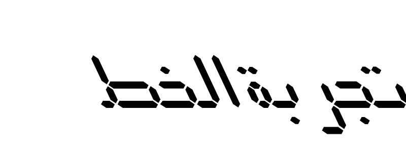 Led Italic Font